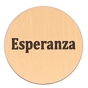 Picture of 'Esperanza' Large Gold Coin